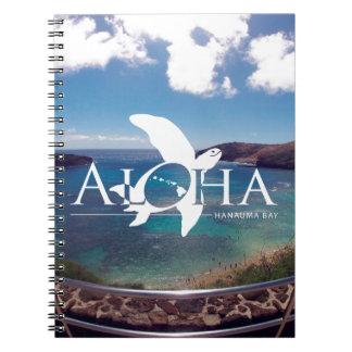 Aloha Hawaii Honu Turtle Spiral Note Books