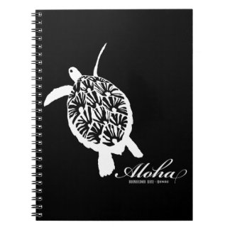 Aloha Hawaii Honu Turtle Spiral Notebook