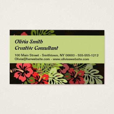 Beach Themed Aloha Hawaii Hula Dance Art Print Business Card