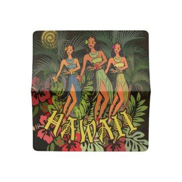 Beach Themed Aloha Hawaii Hula Dance Art Print Checkbook Cover