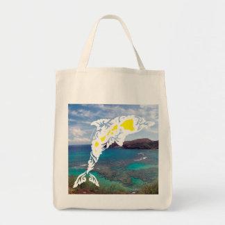 Aloha Hawaii Islands Dolphin Tote Bag