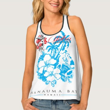 Beach Themed Aloha Hawaii Islands Tank Top
