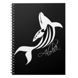 Aloha Hawaii Islands Whale Note Books