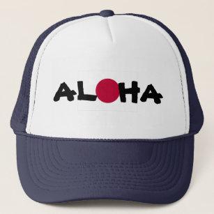 c43d00ad141 Aloha Hawaii Japanese Rising Sun Flag Trucker Hat