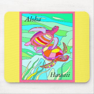 Aloha Hawaii Multi Color Sea Turtles Mouse Pad