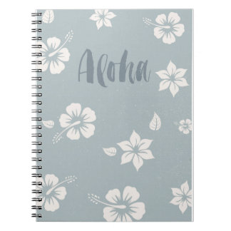 Aloha Hawaii ocean blue notebook