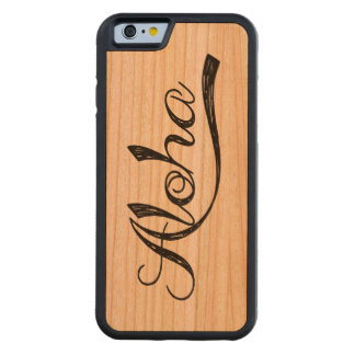 Aloha Hawaii Scratch Wood Case Carved® Cherry iPhone 6 Bumper Case