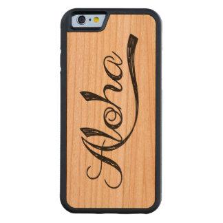 Aloha Hawaii Scratch Wood Case Carved® Cherry iPhone 6 Bumper Case