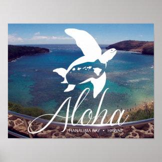 Aloha Hawaii Sea Turtle - Honu Poster