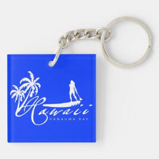 Aloha Hawaii Stand Up Paddling Keychain