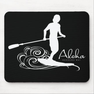 Aloha Hawaii Stand Up Paddling Mouse Pad