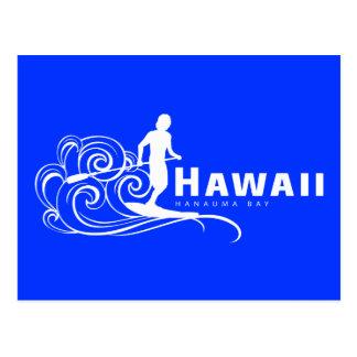 Aloha Hawaii Stand Up Paddling Postcard