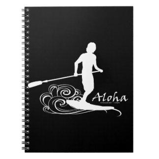 Aloha Hawaii Stand Up Paddling Spiral Notebook