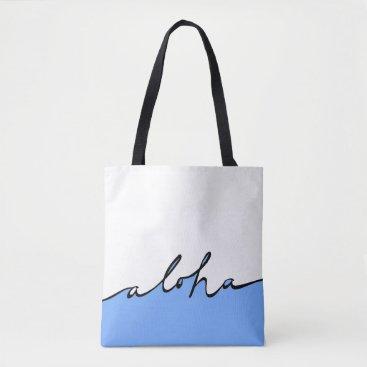 Beach Themed Aloha Hawaii! Tote Bag