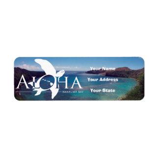 Aloha Hawaii Turtle and Hanauma Bay Label