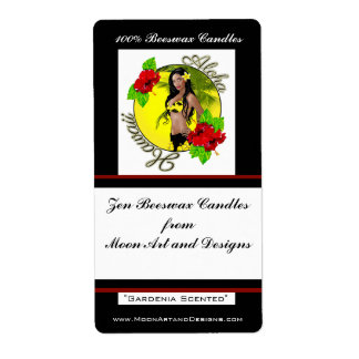 Aloha Hawaii Wahine Pin-up Craft or Wine Labels