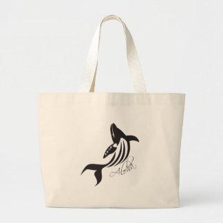 Aloha Hawaii Whale Canvas Bags