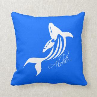Aloha Hawaii Whale Pillow