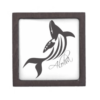 Aloha Hawaii Whale Premium Trinket Box