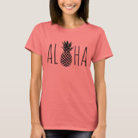 aloha hawaiian black pineapple T-Shirt