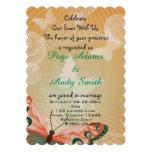 Aloha Hawaiian Butterfly Blossoms Wedding Custom Invite