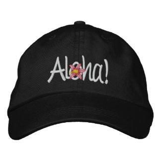 Aloha Hawaiian Embroidered Baseball Cap