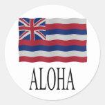 Aloha + Hawaiian flag Sticker