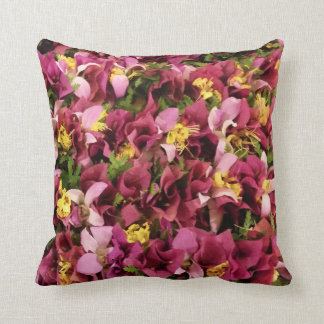 Aloha Hawaiian Flower Lei Pillow