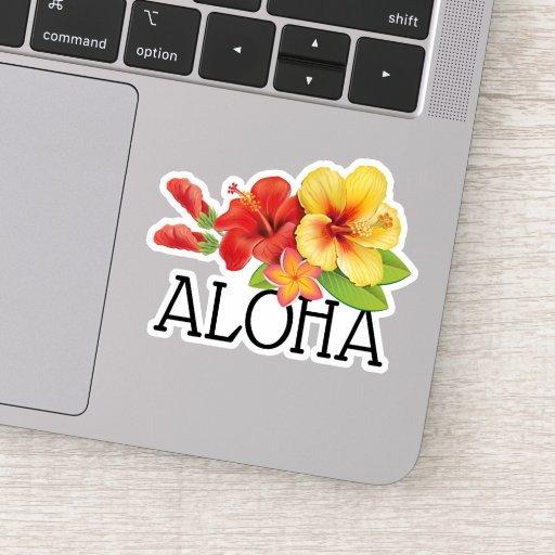 Aloha Hawaiian Flowers Sticker