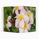Aloha Hawaiian Frangipani Blossoms Bridal Luau Binder
