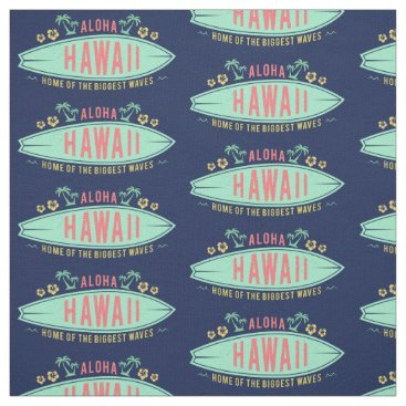 Aloha Hawaiian Surfer custom fabric