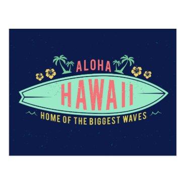 Aloha Hawaiian Surfer postcard