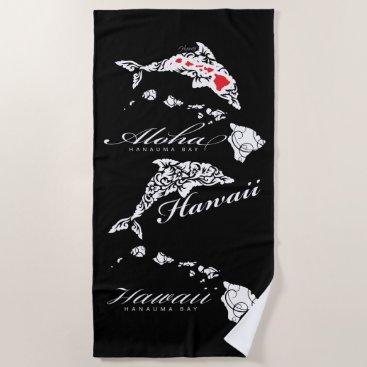 Beach Themed Aloha Hawaiii Dolphin Beach Towel