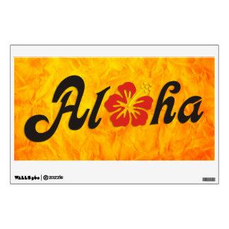 Aloha Hibiscus - flat Hawaii design + your ideas Wall Sticker