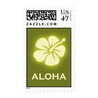 Aloha (hibiscus - green) postage