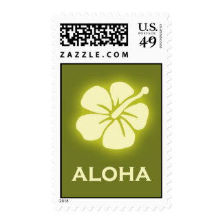 Aloha (hibiscus - green) postage stamps