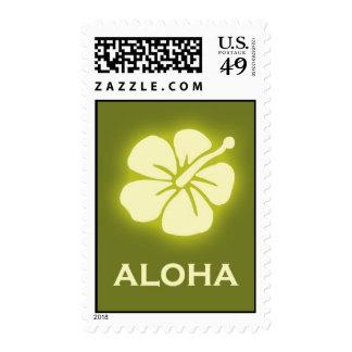 Aloha (hibiscus - green) postage stamps