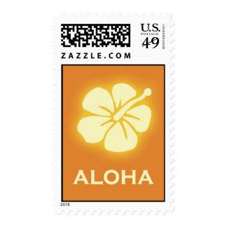 Aloha (hibiscus - orange) stamp