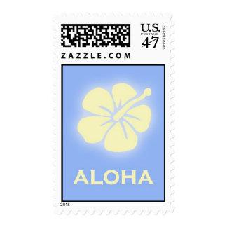 Aloha (hibiscus - sky blue) stamp