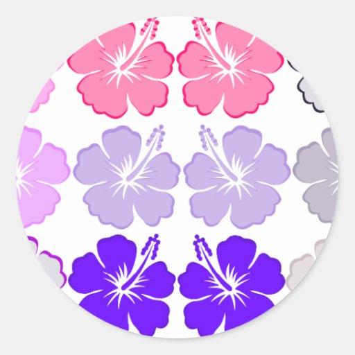 Aloha Hibiscus Stickers