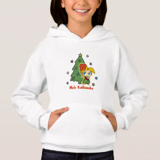 Aloha Honeys Christmas Blond Hula Girl Hoodie
