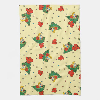 Aloha Honeys Christmas Blond Hula Girl Yellow Towel