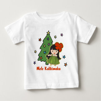 Aloha Honeys Christmas Hawaiian Hula Girl Baby T-Shirt