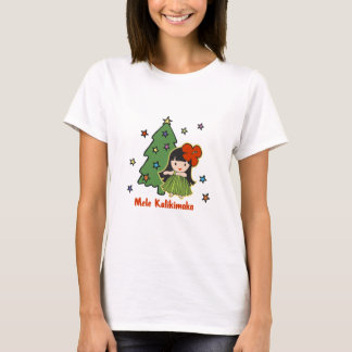 Aloha Honeys Christmas Hawaiian Hula Girl T-Shirt