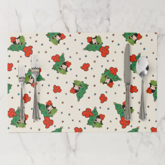 Aloha Honeys Christmas Hawaiian HulaGirl Placemats