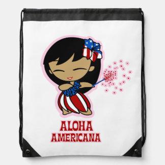 Aloha Honeys Firecracker Hula Girl Backpack