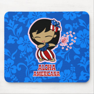 Aloha Honeys Firecracker Hula Girl Mousepads