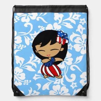 Aloha Honeys Hawaiian Hibiscus Hula Girl Backpack