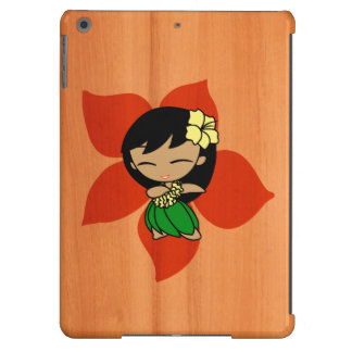Aloha Honeys Hawaiian Hula Girl Faux Wood Cover For iPad Air