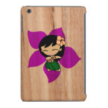 Aloha Honeys Hawaiian Hula Girl Faux Wood iPad Mini Retina Cover